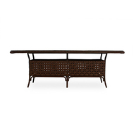 "LLoyd Flanders Haven 84"" Rectangular Umbrella Table"