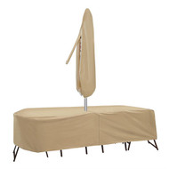 Adco Oval or Rectangular Bar Height Table And Chair Cover with Umbrella Hole