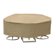 Adco Round Bar Height Table and High Back Chair Cover
