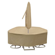 Adco Round Bar Height Table and Chair Cover With Umbrella Hole