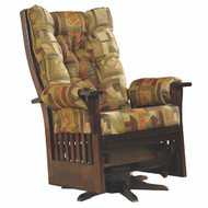 Amish Handcrafted Jumbo Deluxe Mission Swivel Glider
