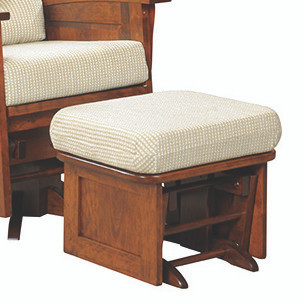 Amish Handcrafted Deluxe Panel Mission Glider Ottoman Southern Outdoor Furn