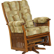 Amish Handcrafted 70 Mission Jumbo Swivel Glider