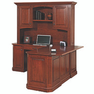 Amish Handcrafted Buckingham Corner Desk & Hutch