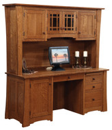 Amish Handcrafted Jamestown Credenza & Hutch