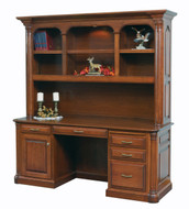 Amish Handcrafted Jefferson Credenza And Hutch