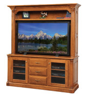 Amish Handcrafted Jefferson TV Stand & Hutch