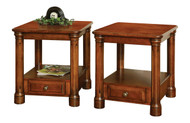Amish Handcrafted Jefferson End Table