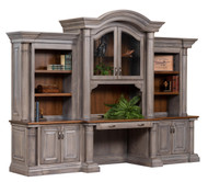 "Amish Handcrafted Paris 129"" Base & 3-Piece Hutch"