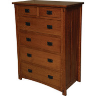 Amish Handcrafted Dutch County 6-Drawer Chest