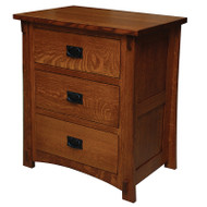 Amish Handcrafted Dutch County 3-Drawer Nightstand 517
