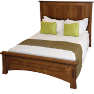 "Amish Handcrafted Dutch County Bed With 18"" Footboard"