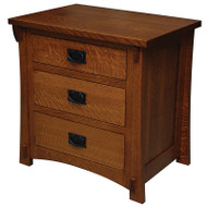 Amish Handcrafted Dutch County 3-Drawer Nightstand 521