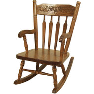 Amish Handcrafted Acorn Child's Rocker