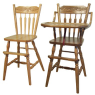 Amish Handcrafted Acorn High Chair & Youth Chair