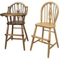 Amish Handcrafted Windsor High Chair & Youth Chair