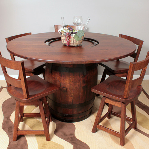 Amish Handcrafted Barrel Dining Table Southern Outdoor