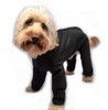 Trouser Suit Black Waterproof Dog Coat