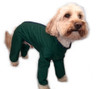 Trouser Suit Green Waterproof Dog Coat