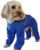 Trouser Suit Blue Waterproof Dog Coat