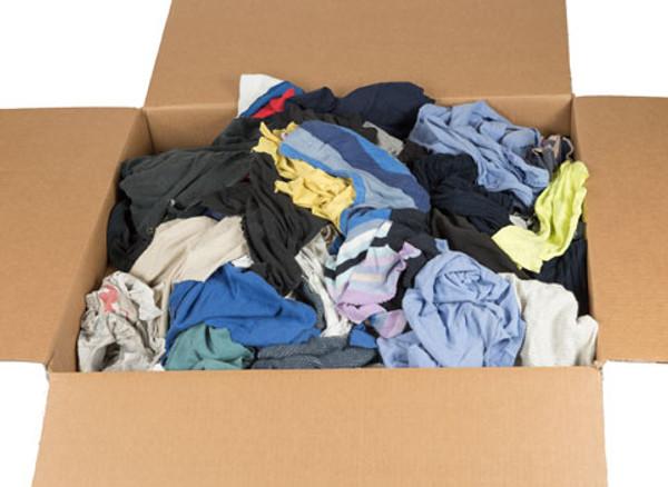 Color T Shirt Rags 25 Pound Box