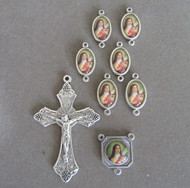 Rosary CENTER & CRUCIFIX & PATER Saint Therese 8pc