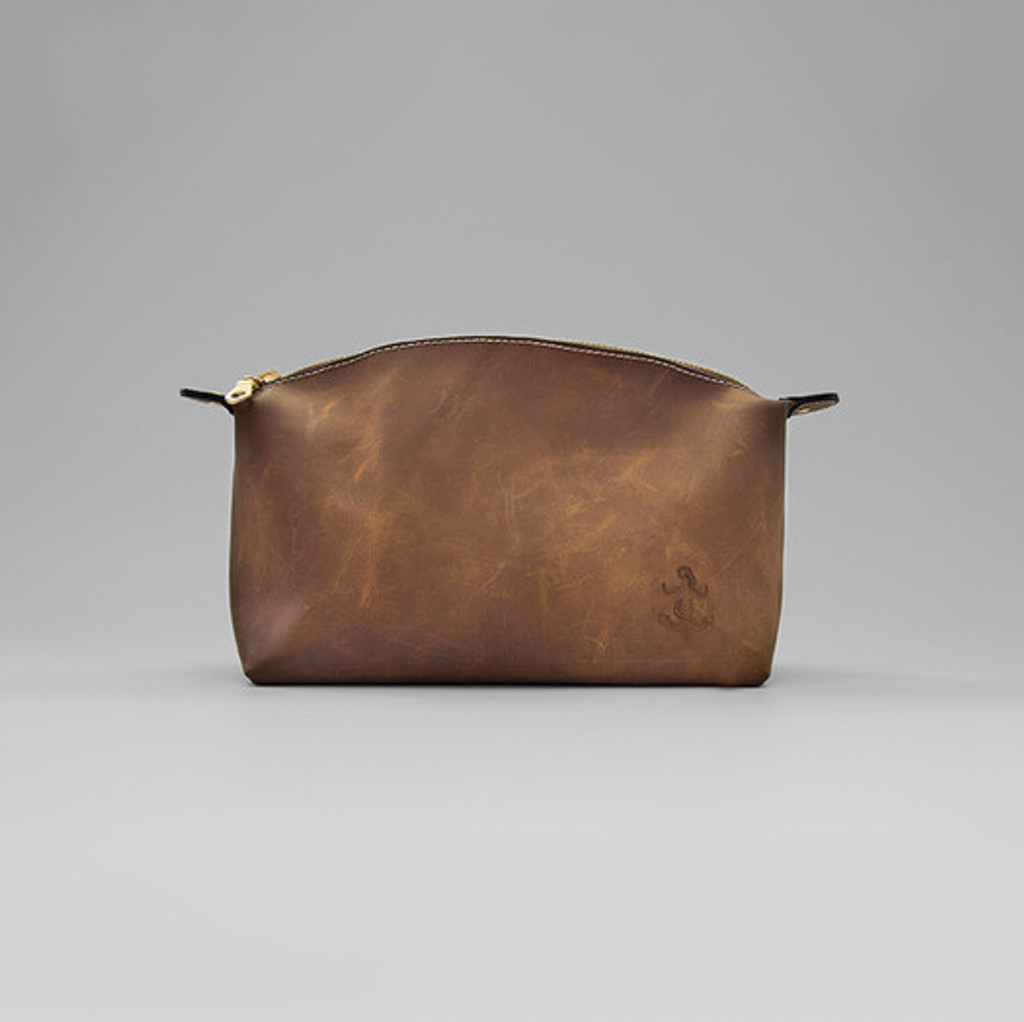 Hadleigh's Leather Wash Bag
