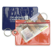 Waterproof Vinyl ID Holder w/ Keychain