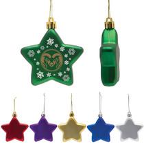 Flat Shatterproof Star Ornament