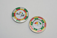 PRG Yardage Coin with Ball Mark