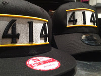 414 Hat Black Flat Bill New Era Snap Back
