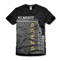 UWM Black and Gold Arena t-shirt
