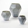 Faceted Stria Vase