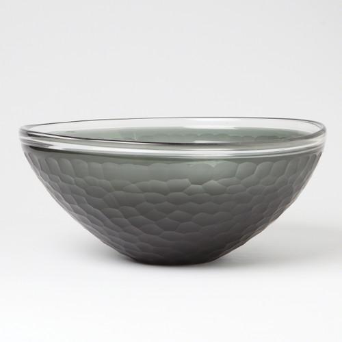 Chiseled Glass Bowl