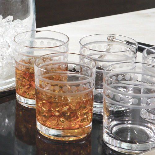 Two Band Double Old Fashion Glasses
