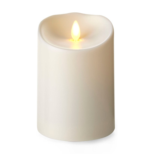 "Outdoor Pillar Ivory 3.75"" x 5"""