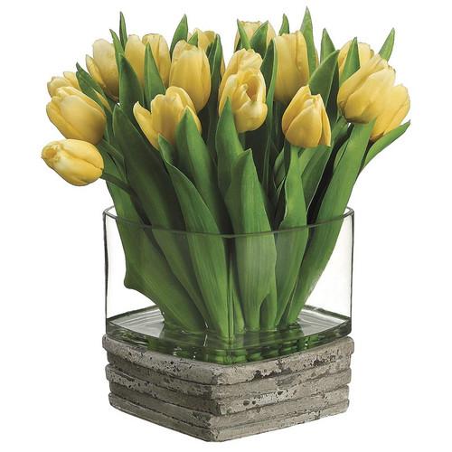 """Dutch Tulip in Glass/Stone 12"""""""