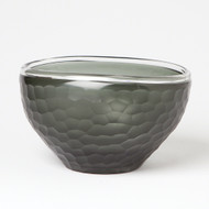 Chiseled Glass Folded Bowl