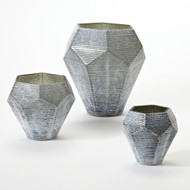 Faceted Stria Vase