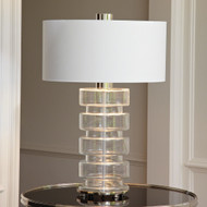 Clear Belted Lamp