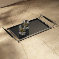 Black Tray with Handles
