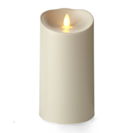 "Outdoor Pillar Ivory 3.75"" x 7"""