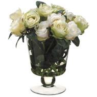 """Rose in Glass Vase 13.5"""""""