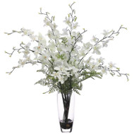 Dendrobium Orchid in Glass Vase 24""