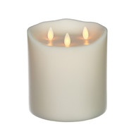 "Classic TriFlame Pillar Ivory 6"" x 6"""