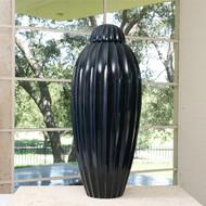 Oversized Fluted Jar w/Lid