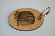 3D Lake Cabin Key Ring