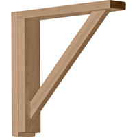 "2 1/2""W x 12 3/4""D x 12 1/4""H Traditional Shelf Bracket, Alder"