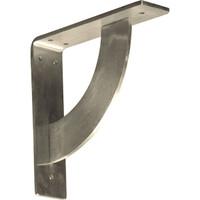 """2""""W x 8""""D x 8""""H Bulwark Bracket, Stainless Steel"""