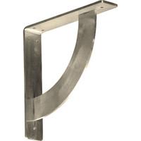 """2""""W x 10""""D x 10""""H Bulwark Bracket, Stainless Steel"""